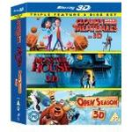Monster House Filmer Cloudy With a Chance of Meatballs/ Monster House / Open Season Triple Pack (Blu-ray 3D) [Region Free]